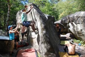 Fontainebleau Bouldering,